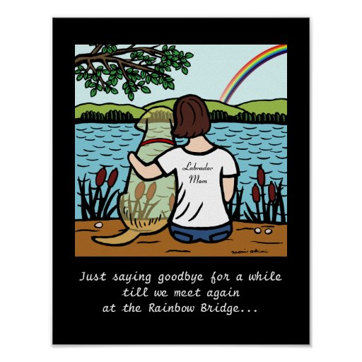 Yellow Labrador Angel and Mom 3 Poster