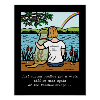 Yellow Labrador Angel and Mom Poster