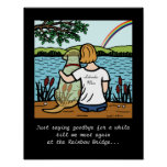 Yellow Labrador Angel and Mom Posters