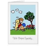 Yellow Labrador Angel with Love Card