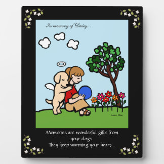 Yellow Labrador Angel with Love Memorial 2 Plaque