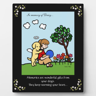 Yellow Labrador Angel with Love Memorial Photo Plaques