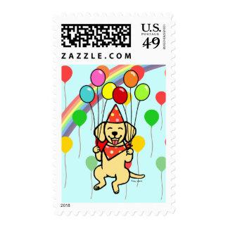 Yellow Labrador Birthday Balloons Postage