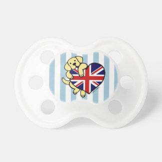 Yellow Labrador British Heart BooginHead Pacifier
