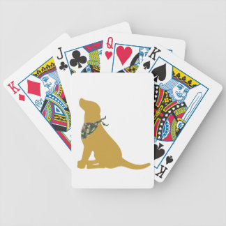 Yellow Labrador / Camo Bandana Bicycle Poker Deck