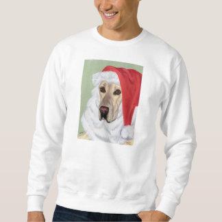 Yellow Labrador Christmas Santa Sweatshirt