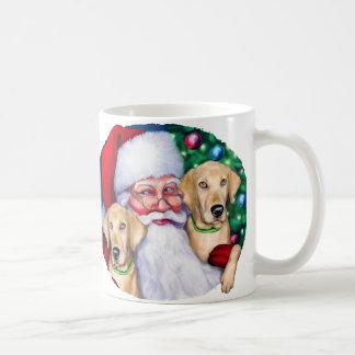 Yellow Labrador Christmas Santa's Labs Coffee Mugs