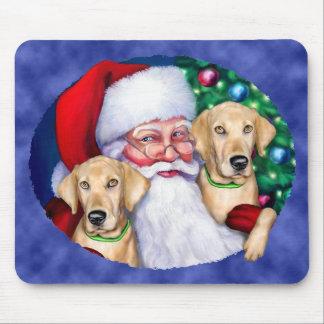 Yellow Labrador Christmas Santa's Labs Mousepad