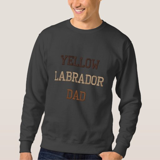 Yellow Labrador Dad Text