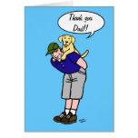 Yellow Labrador Daddy Greeting Card