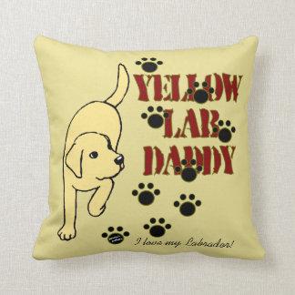 Yellow Labrador Daddy Throw Pillow
