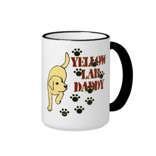 Yellow Labrador Daddy Ringer Coffee Mug