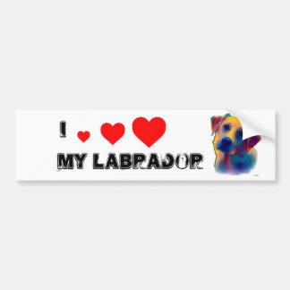 Yellow Labrador Dog Bumper Sticker