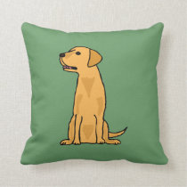 Yellow Labrador Dog Pillow