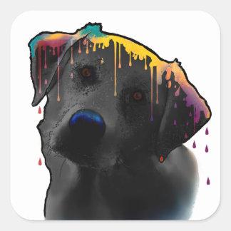 Yellow Labrador Dog Square Sticker