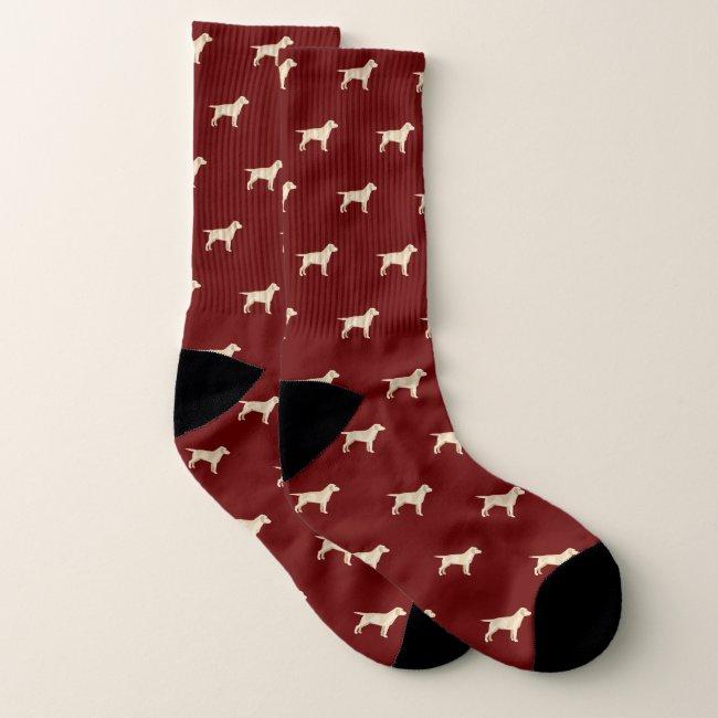 Yellow Labrador Dogs Pattern Socks