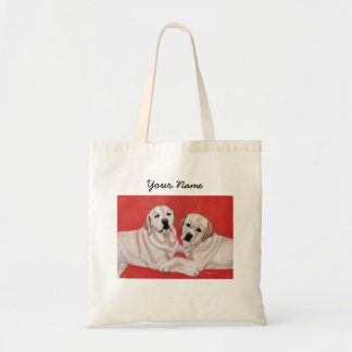 Yellow Labrador Duo Painting Tote Bag