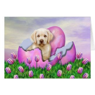 Yellow Labrador Easter Surprise Greeting Card
