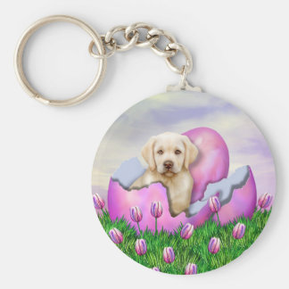 Yellow Labrador Easter Surprise Key Chains