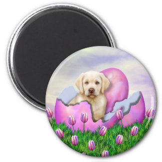 Yellow Labrador Easter Surprise Magnet