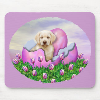 Yellow Labrador Easter Surprise Mouse Pad