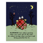 Yellow Labrador Family and Starry Sky Poster