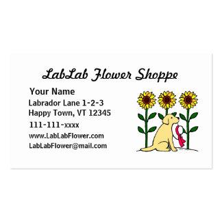 Yellow Labrador Flower Business Business Card Template