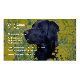 yellow Labrador flowers Business Card