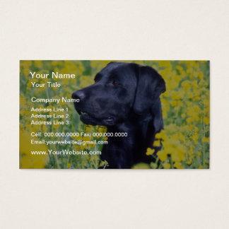 yellow Labrador flowers Business Card