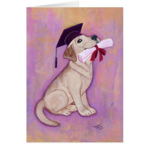 Yellow Labrador Graduation Card