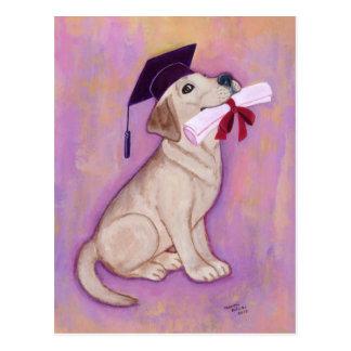 Yellow Labrador Graduation Post Card