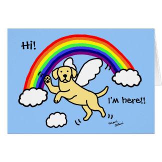 Yellow Labrador Guardian Angel (Rainbow Bridge) Greeting Cards