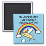 Yellow Labrador Guardian Angel (Rainbow Bridge) Fridge Magnets