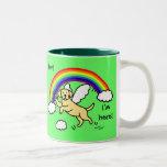 Yellow Labrador Guardian Angel (Rainbow Bridge) Two-Tone Coffee Mug