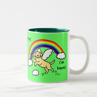 Yellow Labrador Guardian Angel (Rainbow Bridge) Two-Tone Coffee Mug