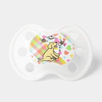 Yellow Labrador Ice Cream Dream Baby Pacifier