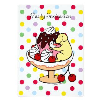 Yellow Labrador & Ice Cream Sundae Card