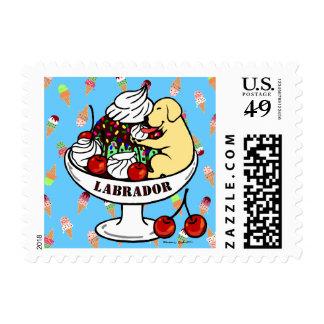 Yellow Labrador & Ice Cream Sundae Postage
