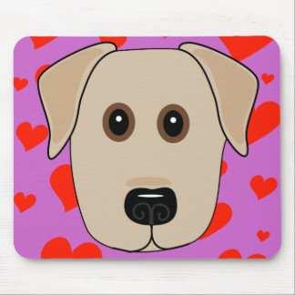 Yellow Labrador Love Mouse Pad