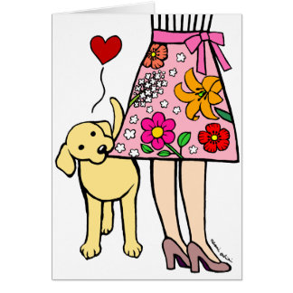 Yellow Labrador & Mom's Skirt Mother's Day