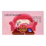 Yellow Labrador on the pink couch Business Card Templates