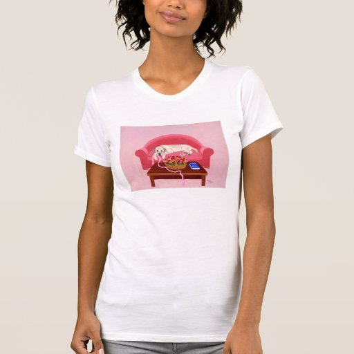 Yellow Labrador on the pink couch Tees