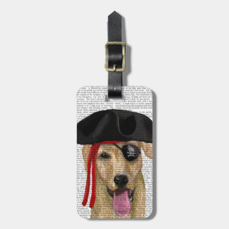 Yellow Labrador Pirate 2 Bag Tag