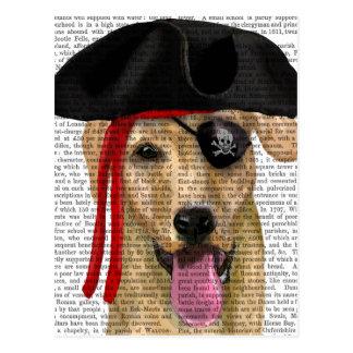 Yellow Labrador Pirate 2 Postcard