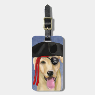 Yellow Labrador Pirate Luggage Tag