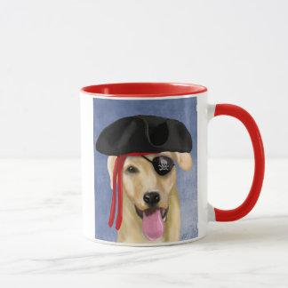 Yellow Labrador Pirate Mug