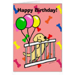 Yellow Labrador Puppy Cartoon Greeting Cards