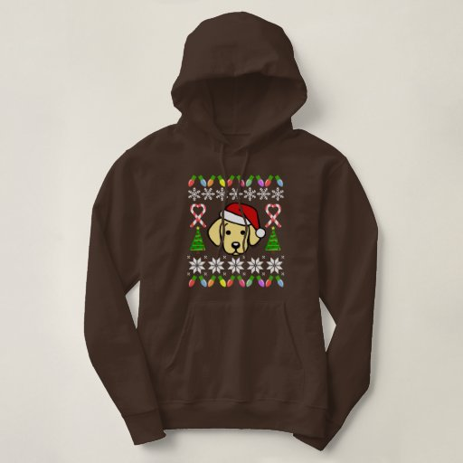 Yellow Labrador Puppy Christmas Pattern Hoodie
