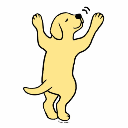Yellow Labrador Puppy Hug Cartoon Photo Cutouts Zazzle