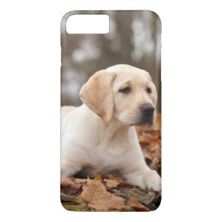 Yellow Labrador Puppy In Autumn iPhone 7 Plus Case